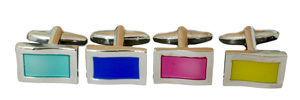 Tourquise Blue Pink and Yellow Cufflinks from Funky cufflinks.com