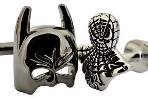 Batman and SpiderMan Bust Cufflinks