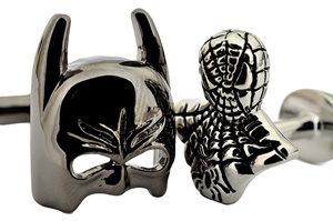 Batman and SpiderMan Bust Cufflinks