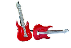 Red Guitar Cufflinks from FunkyCufflinks.com