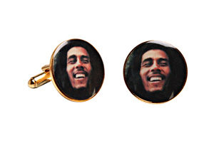 Bob Marley Cufflinks by Funky Cufflinks.com