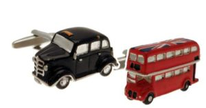London Black Cab and routemaster Bus Cufflinks