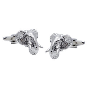African Elephant Head Cufflinks
