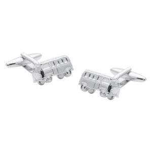 Beautiful VW Silver Plated Campervan Cufflinks
