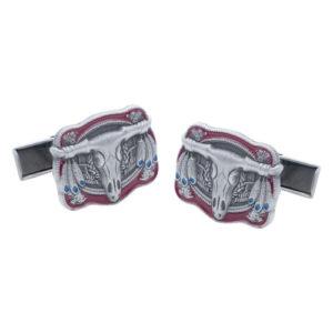Buffalo Head Native Indian Decorative Cufflinks