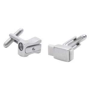 Working Pencil sharpener and eraser Cufflinks Perfect for teachers