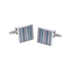 Beautiful Stripey Cufflinks with Different Colours